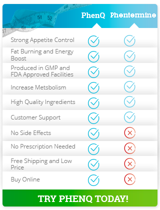Differences between Phentermine and PhenQ
